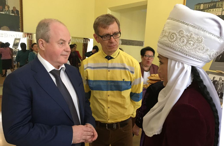 Игорь Чекотин с послом Киргизии